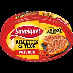 Rillettes de thon au poivron SAUPIQUET, 115g