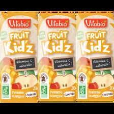 Fruit Kid'z pomme mangue acérola VITABIO, 3x20cl