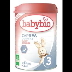 Lait en poudre pour nourrissons à partir caprea 3, BABYBIO, de 10 mois, 900g
