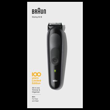 Braun Tondeuse Multifonction Braun Mbmgk5,mode Charge Rapide 5 Min,autonomie100min,étui De Voyage,1 Tondeuse De Précision,4 Sabots De 0,5 À 21mm1 Smart Plug