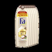 Fa Gel Douche Cream Oil Cacao Coco Fa, 4 X 250ml +2 Offerts