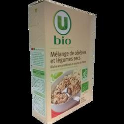 Mélange de céréales et légumes secs U BIO, étui de 500g