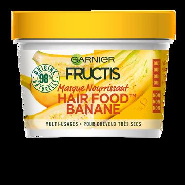 Garnier Masque Nourrissant À La Banane Pour Cheveux Très Secs Hair Foods Fructis, Pot De 390ml