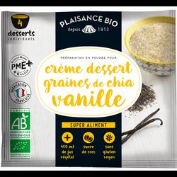 Préparation en poudre pour crème dessert graines de chia vanille veganPLAISANCE BIO, 40g