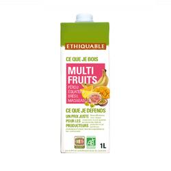 Jus multifruits BIO ETHIQUABKE 1L brique