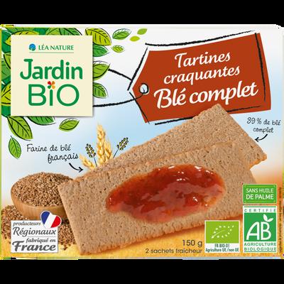 Tartines craq Blé complet JARDIN BIO