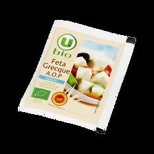 Féta grecque AOP au lait pasteurisé de brebis et chèvre issue de l'agriculture biologue, U, BIO, 24,4% de mg, 150g