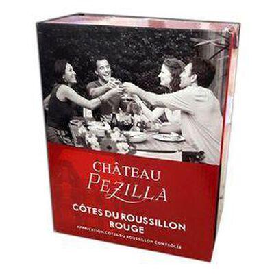 Château Pézilla, vin rouge Cotes du Roussillon, BIB de 3L