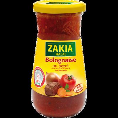 Sauce bolognaise halal ZAKIA, 400g