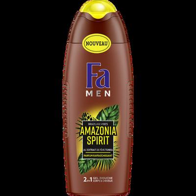Gel douche amazonia spirit 2en1 FA men, 250ml
