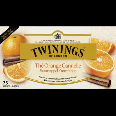 Thé orange cannelle TWININGS, 25 sachets, 50g