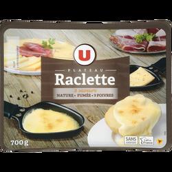 Plateau Raclettes 3 saveurs U, 28% de MG, 700g