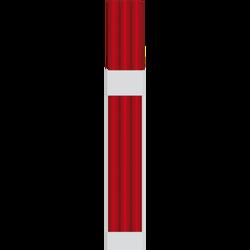 Rouleaux papier U MAISON, gaufrage softex, 15x1,35m, rouge