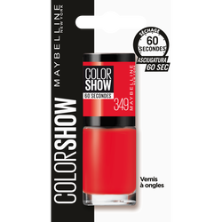 Vernis à ongles colorshow 349 power red - blister MAYBELLINE