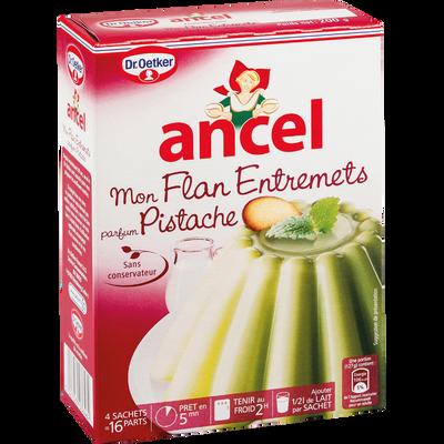 Préparation pour flan entremet parfum pistache ANCEL,4 sachets, 200g