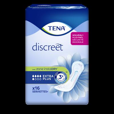 Serviettes discreet extra plus TENA Lady paquet 16