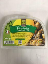 Provence Olives - Olives vertes Cassées à l'Ail