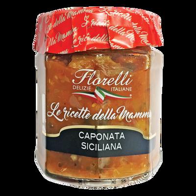 Sauce Caponata Siciliana tomate aux légumes FLORELLI, 200g