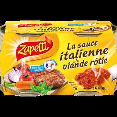 Sauce Italienne à la viande rôtie ZAPETTI, 2x190g