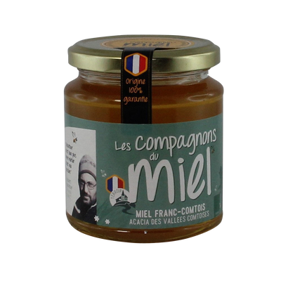 Miel d'acacia des vallées comtoises COMPAGNONS DU MIEL, 375g