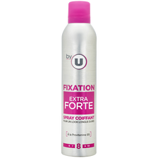 Spray coiffant fixation extra forte By U, bombe 300ml