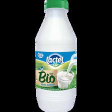 Lait pasteurisé demi-écrémé bio LACTEL, bouteille bouchon de 1l