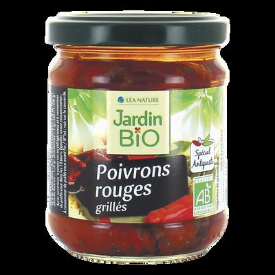 Poivrons rouges grillés bio JARDIN BIO, bocal de 190g