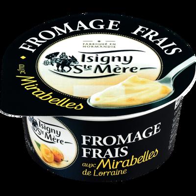 Fromage frais aux mirabelles ISIGNY STE MÈRE, 6,5% de MG, pot de 150g
