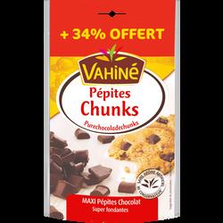 Pépites chunks de chocolat noir VAHINE sachet 100g+34%offert 134g