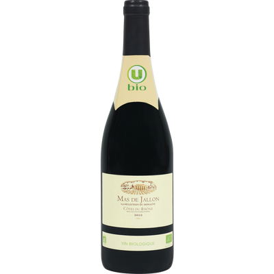 Vin rouge AOP Côtes du Rhône Mas de Jallon U BIO, 75cl