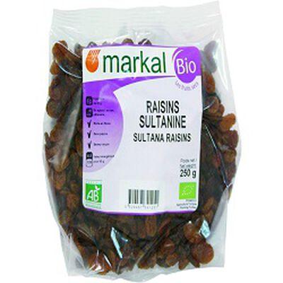 Raisins sultanine BIO, MARKAL, 250g
