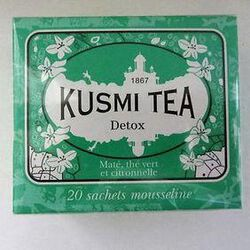 Detox - Etui 20 sachets mousse, KUSMI TEA, 44g