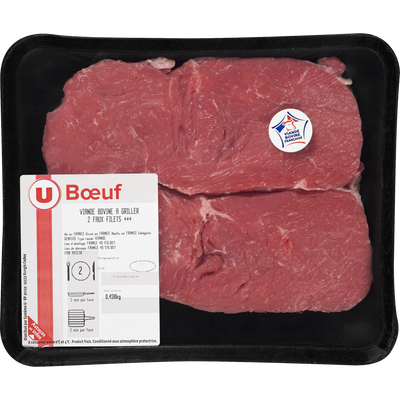 Viande bovine - Faux filet *** Genisse, U, France, 2 pièces