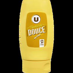 Moutarde douce U, bouteille de 255g