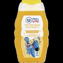 Shampoing et douche 2en1 parfum jus tropical U MAT ET LOU, flacon de 250ml