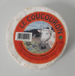 Fromage lait de vache 45% MG, Coucouron 400G