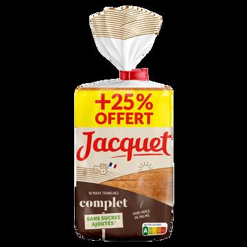Jacquet Pain Mie Maxi Tranches Complet Jacquet, 550g+25% Offert