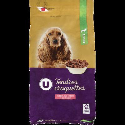 Tendres croquettes pour chien au boeuf, aux céréales et aux légumes U,paquet de 4kg