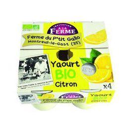 Yaourt bio au citron 4x125g