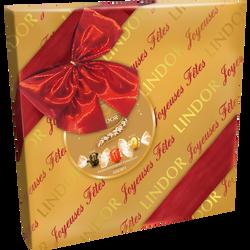 Boîte cadeau Lindor assortiment bouchées de chocolat LINDT, 287g