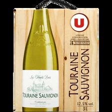 Vin blanc AOP Touraine Sauvignon Les haut buis U, fontaine à vin de 3l