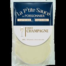 Sauce champagne EPC, transformée en France, sachet 200g