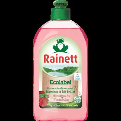 Liquide vaisselle vinaigre de framboise RAINETT Ecolabel , flacon de 500ml