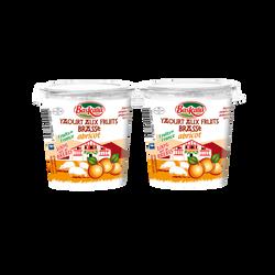 Yaourt pur brebis brassé abricot BASKALIA, 2x125g