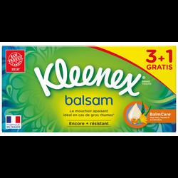 Mouchoirs balsam KLEENEX, 3x72 +1 offert