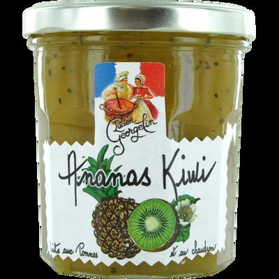 Préparation ananas kiwi Recettes au chaudron LUCIEN GEORGELIN, pot de320g