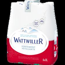 Wattwiller Eau Minérale Naturelle Fortement Pétillante , 6x1l