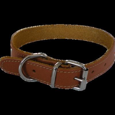 Collier cuir marron éco yago, L, AIME