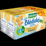 Blédina Lait Et Céréales Saveur Vanille Bledidej Bledina, Dès 6 Mois, 4x250ml