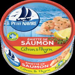 Emietté de saumon citron&thym PETIT NAVIRE, boîte de 110g
